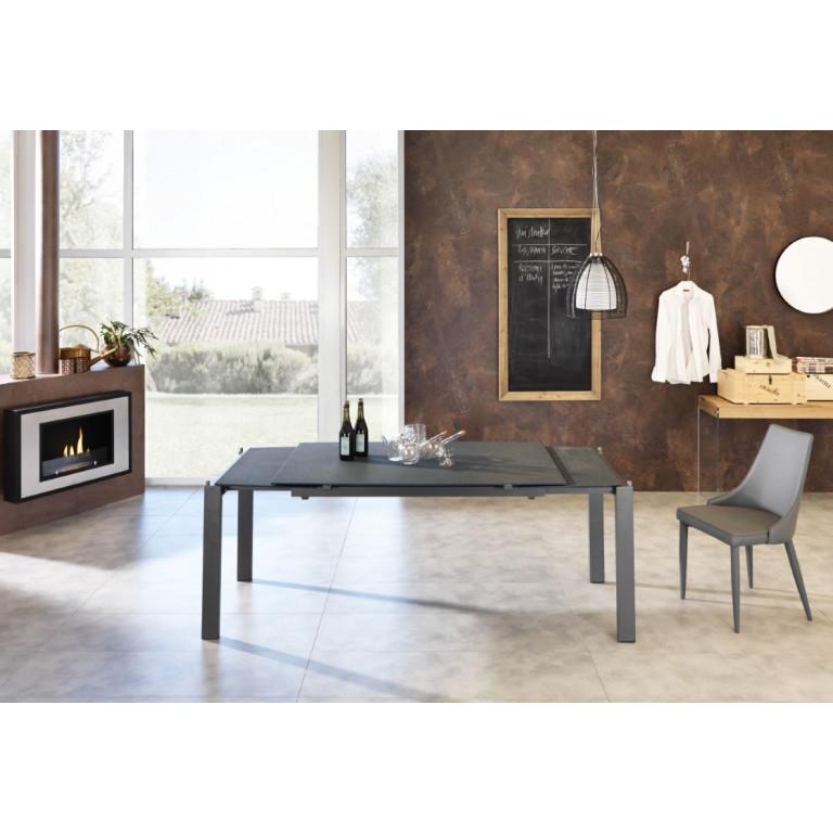 Verlängerbarer Tisch | Grau