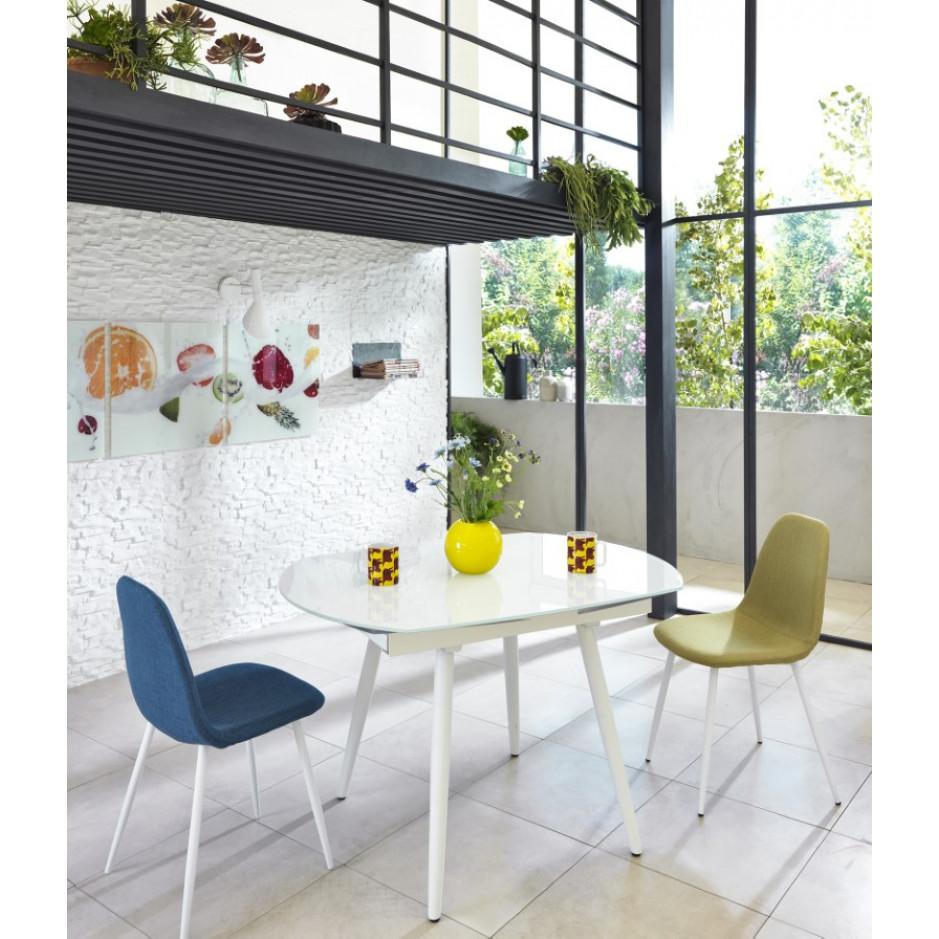 Verlängerbarer Tisch   Weiß