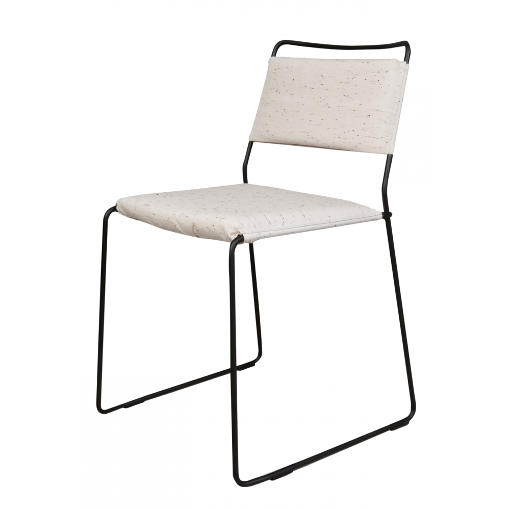 Chaise One Wire | Noir & Blanc