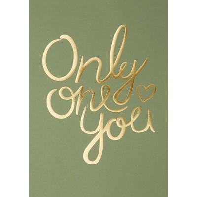 Nur ein Du Poster   Mittelgrün