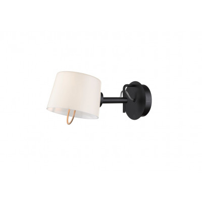 Wandlampe offen | Schwarz