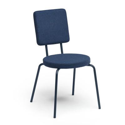Darkblue   Round Seat, Square Backrest