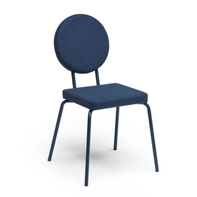 Darkblue   Square Seat, Round Backrest