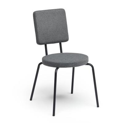 Grey   Round Seat, Square Backrest