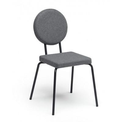 Grey   Square Seat, Round Backrest