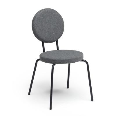 Grey   Round Seat, Round Backrest