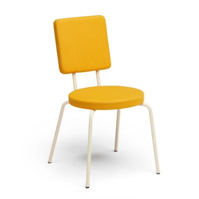 Crème   Round Seat, Square Backrest