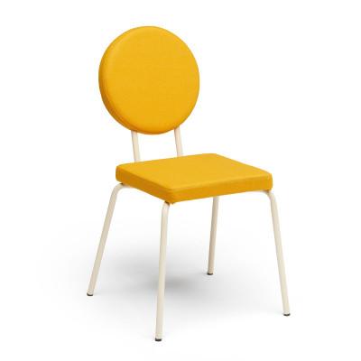 Crème   Square Seat, Round Backrest