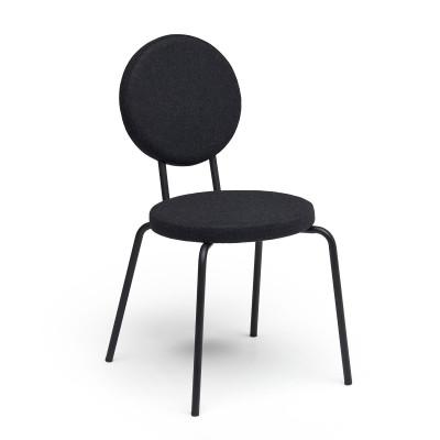 Black   Round Seat, Round Backrest