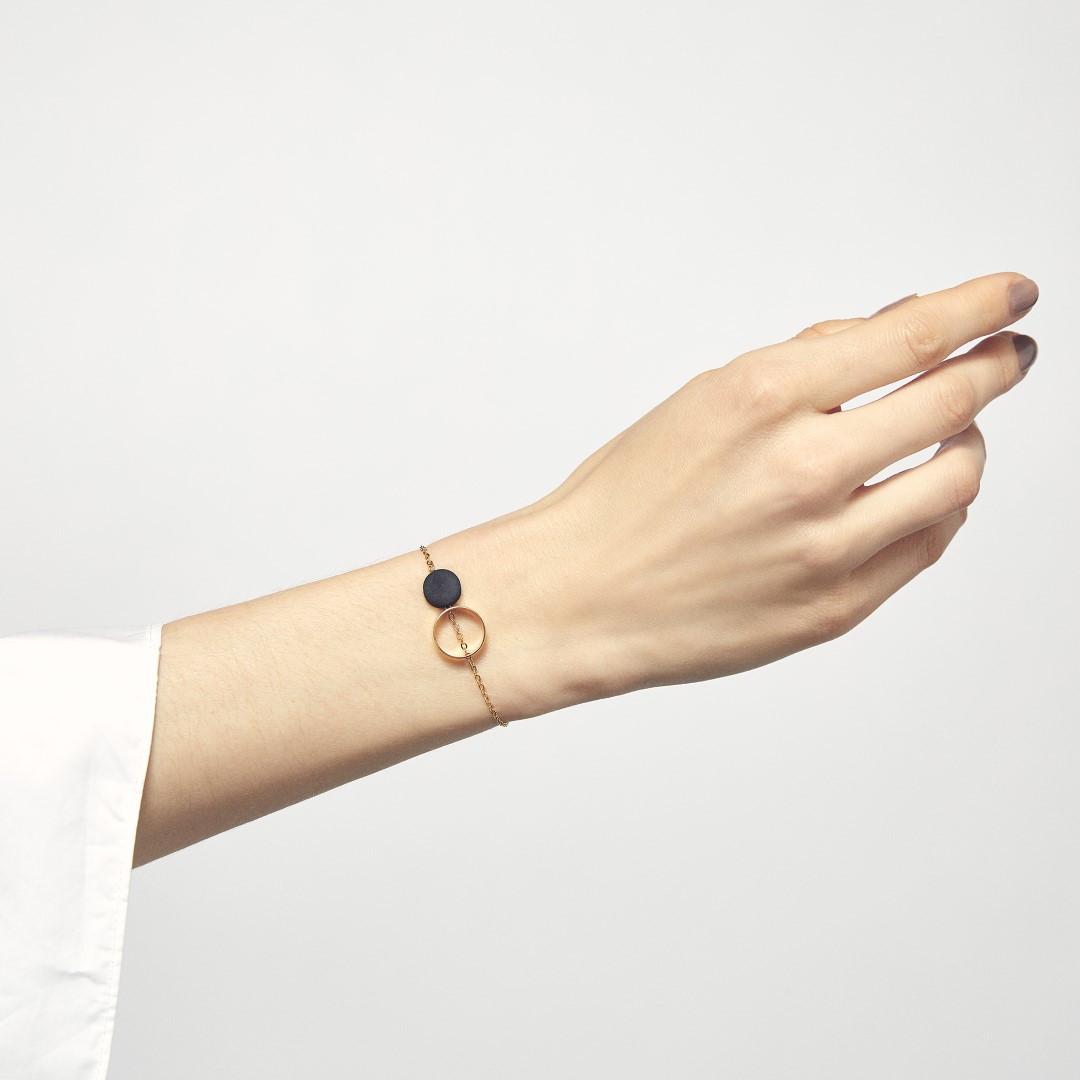 Armband Ortografi | Schwarz & Gold