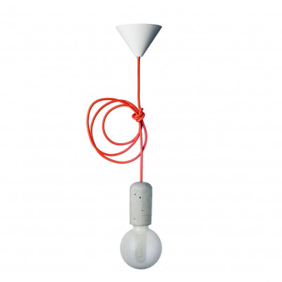 Concrete Pendant Lamp | Orange