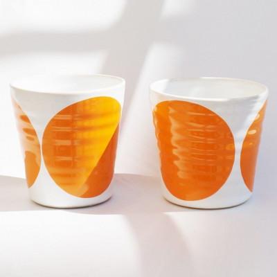 TINA Mug Set of 2   Orange