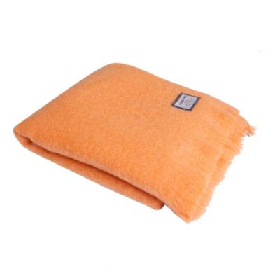 Mohair Blanket   Orange