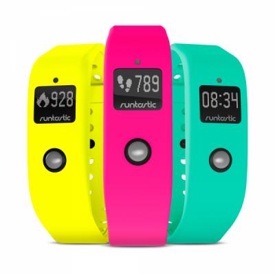 Runtastic Orbit   Wristbands   Set of 3: Neon Rose, Luscious Lemon and Peacock Green