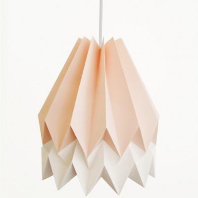 Orikomo Lampenschirm - Rosa/Weiß