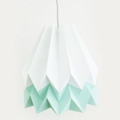 Orikomo Lampenschirm - Weiß/Mintblau
