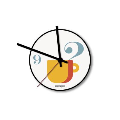 Wall Clock Coffee Time