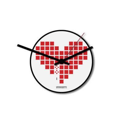 Wall Clock Love Invaders