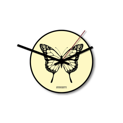 Clock Butterfly | Yellow