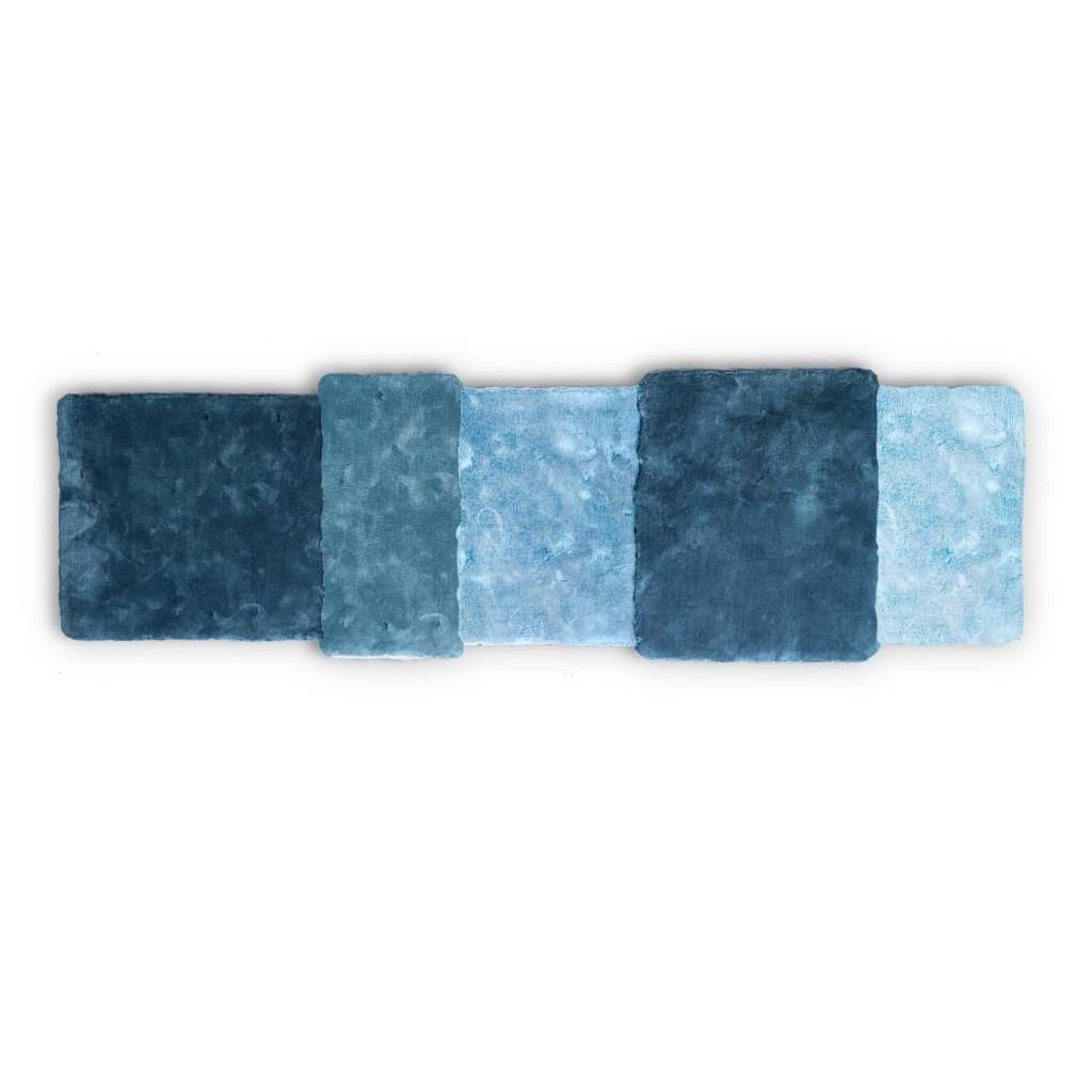 Teppich über Streifen | Blau