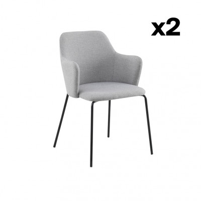 2-er Set Esszimmerstühle Oslo | Grau