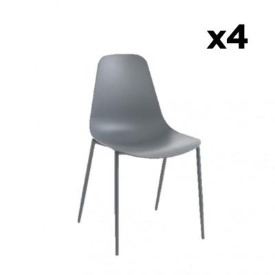 4er-Set Stühle Oslo | Grau