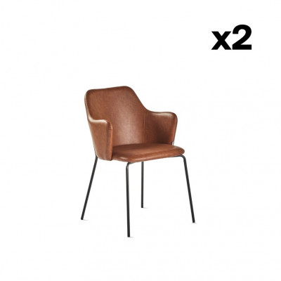 2er-Set Stühle Oslo   Braun