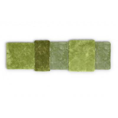Teppich über Streifen | Grün
