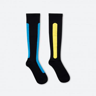 Ostrich Pillow Compression Sock L/XL | Blue Azure & Yellow Moss