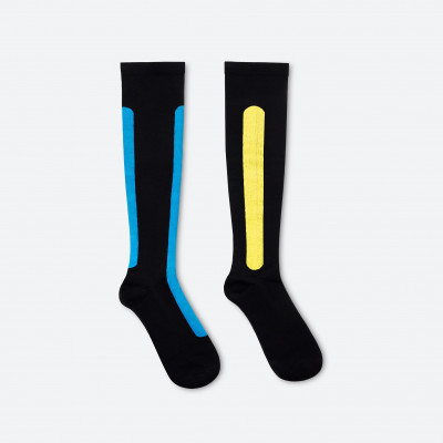 Ostrich Pillow Compression Sock S/M | Blue Azure & Yellow Moss