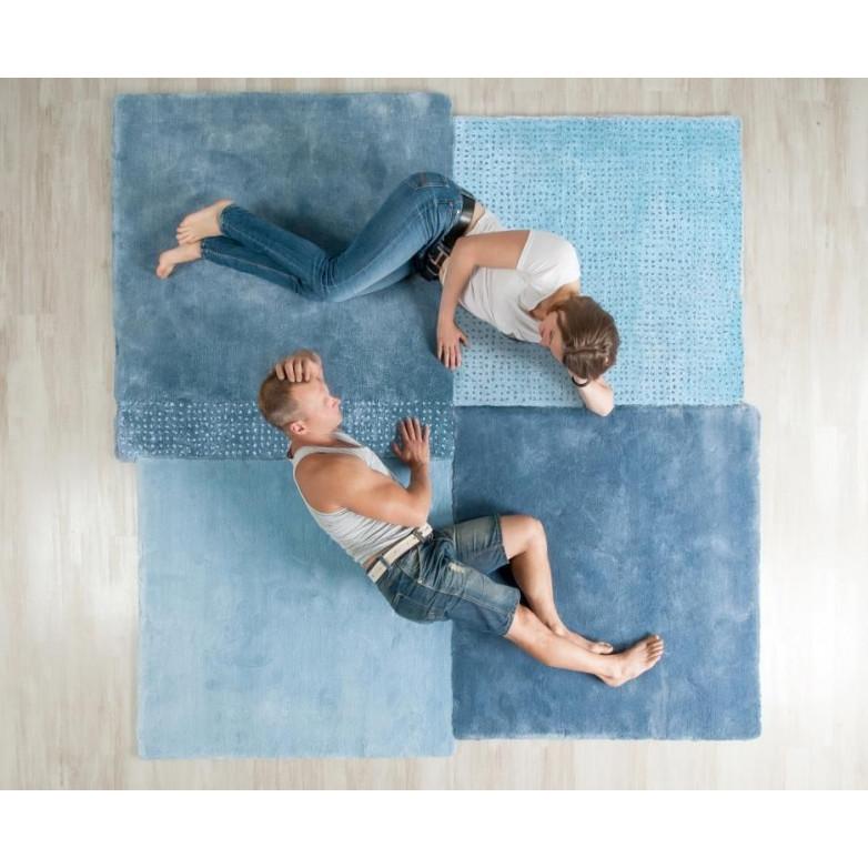 Teppich über Quadrat | Blau