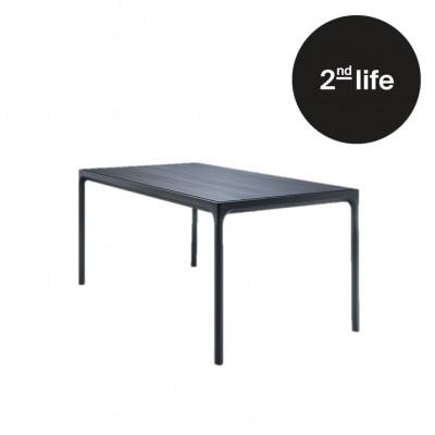 2tes Leben | Garten-Tisch Vier | Schwarz - Medium