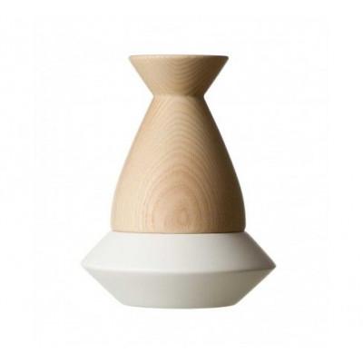 Ovni Kerzenhalter | weiß/natur