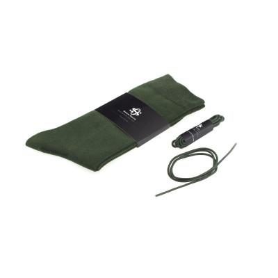 Set Socks & Laces | Dark Green  / Size 43 - 46