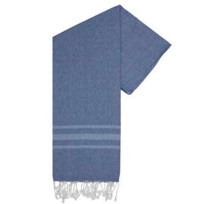 Hammam Handtuch Streifen Vibe | Hellblau