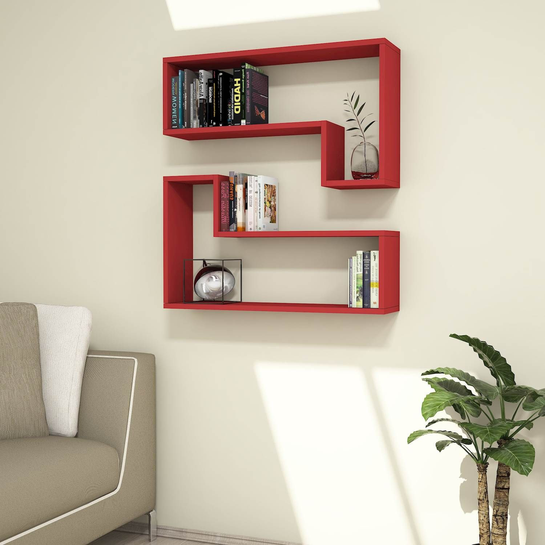 Shelf Ozy Set of 2   Red