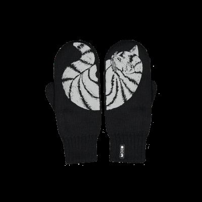 Zweilagige Reflektierende Handschuhe Katti   Schwarz