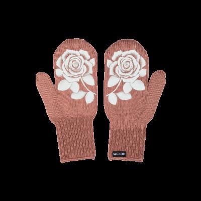 Einlagige reflektierende Handschuhe Ruusu   Rosa