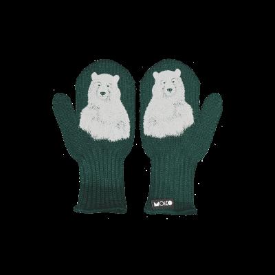 Einlagige Reflektierende Kinderhandschuhe Nanuk   Grün