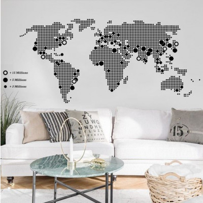 World Map | Black