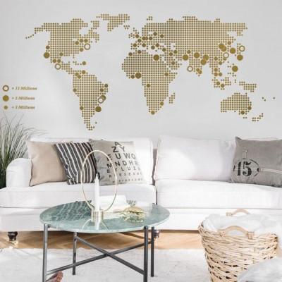 World Map | Gold