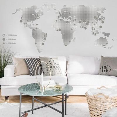 World Map | Grey