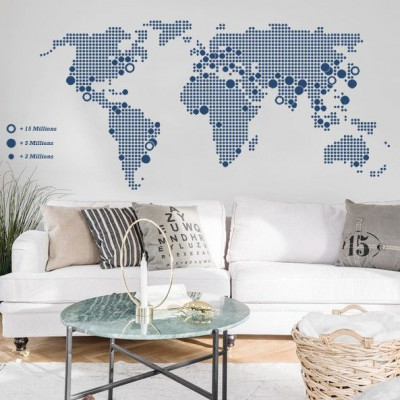 World Map | Blue