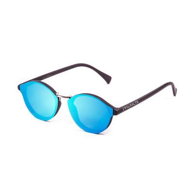 Sonnenbrille Turin | Schwarz + Blaue Linse