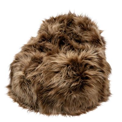 Pouf Moumoute XL | Brown | Long Hairs