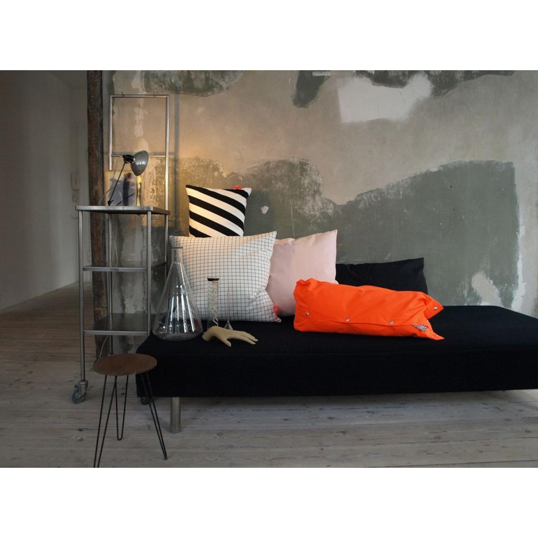 Kussen 40x80cm Zwart & Wit - Vierkant