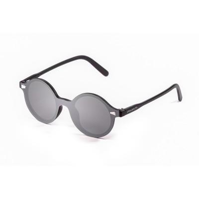 Sonnenbrille Portland | Schwarz + Silberlinse