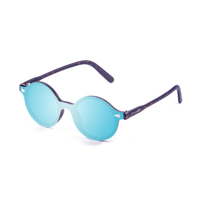 Sonnenbrille Portland | Braun + Blaue Linse