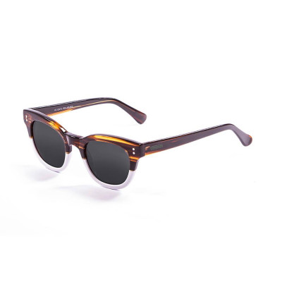 Sonnenbrille Inspiration V | Braun + Weiß & Graue Linse