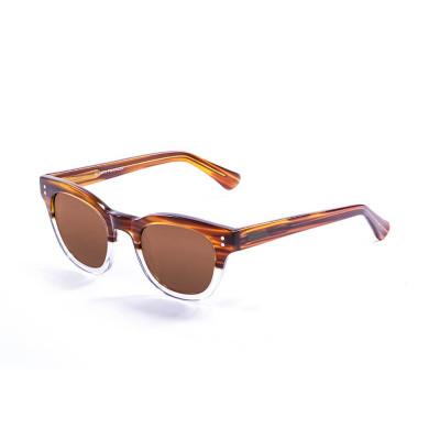 Sonnenbrille Inspiration V | Hellbraun + Weiß- & Braune Linse